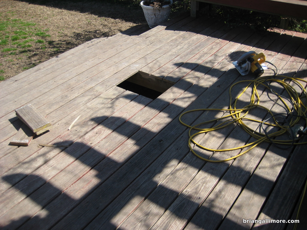 New hole in deck